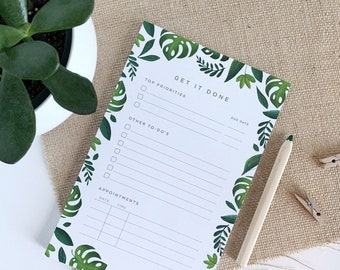 Tropical Activity Planner Notepad, Daily Planner, Personal Planner, To Do List Notepad, Things To Do List, To-Do Organizer, Daily Planner