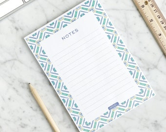 Portugal Notepad - Watercolor Notes Pad - Portugal-inspired Stationery - Watercolor Lisbon Tiles - Gifts for mom - Gifts for teachers