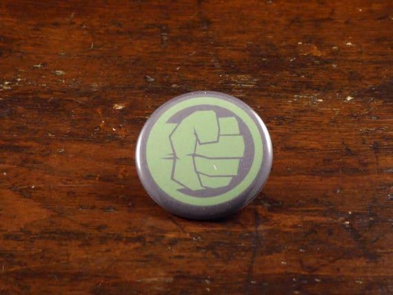 Hulk Symbol Incredible Hulk Inspired 225 Pinback Etsy