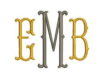 4 Size Fish tail  Monogram Embroidery Fonts BX  9 Formats Embroidery Pattern Machine BX Embroidery Fonts PES