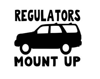 Regulators mount up Suburban SUV SVG cut file Silhouette Cricut
