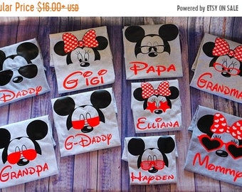 ON SALE Personalized Disney Trip Shirts, Disney Family Shirts, Disney Trip, Disney Group,  Mickey shirt, Minnie Shirt, Disney Family shirts,