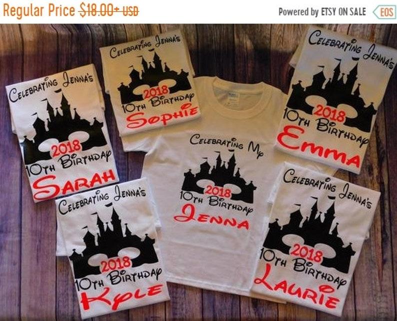 SALE Disney Birthday Shirts Sweet 16 Quinceanera Princess Boy Girl Personalized