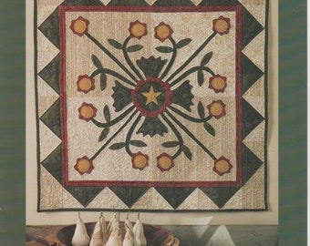 Whig Rose IJ642 Quilt Pattern For Pieced And Appliqued Wall Quilt Indygo Junction Pat Sloan 2000 OOP