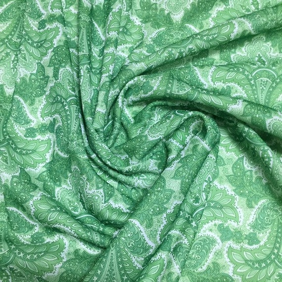 Vintage Fabric Polyester Satin Look Apparel Shine 60s 70s Dress Scarves