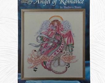 Angel Of Romance Cross Stitch Leaflet Designed By Barbara Baatz American School Of Needlework 1997