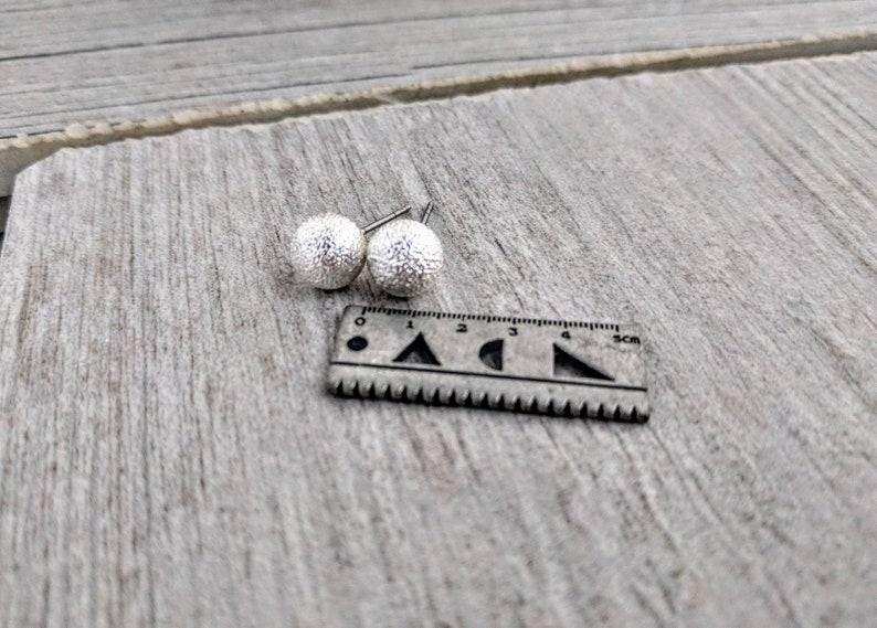 everyday earring 8mm minimalist Silver ball stud earrings stardust ball studs silver studs silver ball earrings ball studs