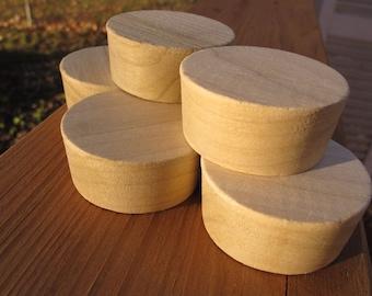Ten (10) Poplar Whiskey Barrel Bung