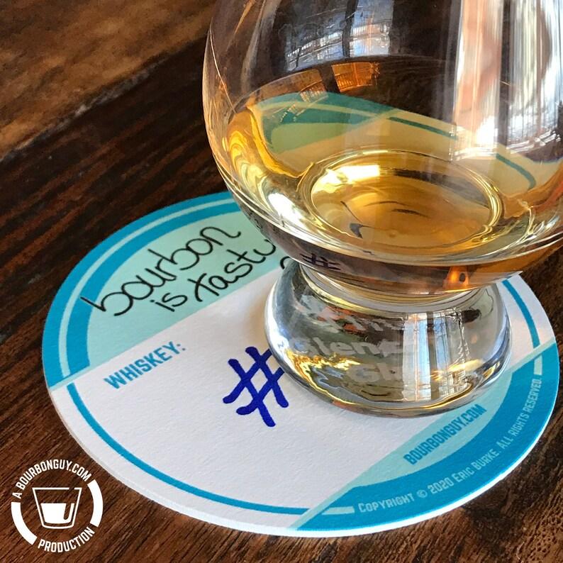 COASTERS    Bourbon Whiskey Tasting Coasters image 0