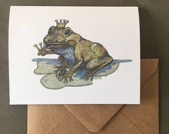 Frog note cards--Sometimes you have to kiss a lot of frogs