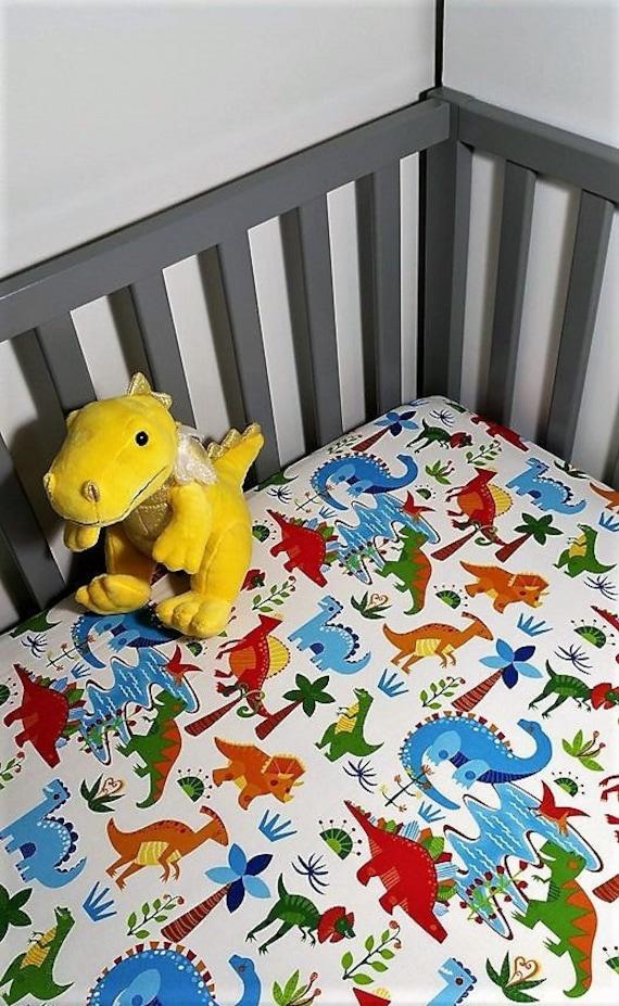 Dinosaur Baby Bedding Boy Crib Sheet, Dinosaur Nursery Crib Bedding