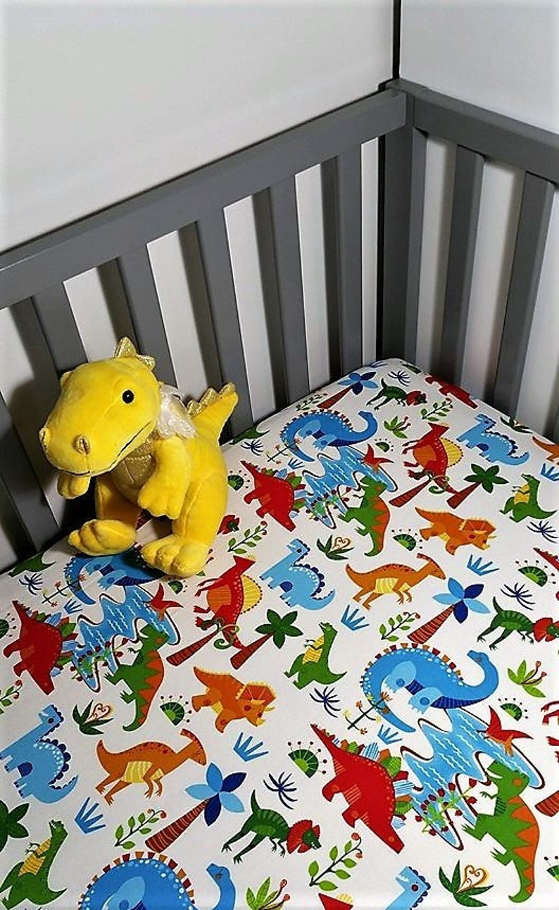 Dinosaur Baby Bedding boy Crib Sheet Dinosaur nursery ...