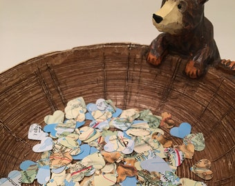 Handmade Heart Atlas Confetti - Choose from 100, 200 or 500 Pieces // Wedding Confetti