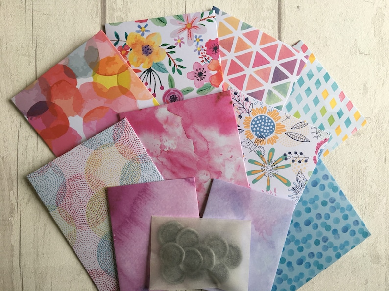 Snail Mail Monthly March Box / Envelopes / Pen Pals / Handmade Stationery /  Pen Pal Envelopes / Snail Mail Envelopes