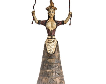 "Minoan Minotaur 5,5/"" 14cm Medium Size Statue From Crete Museum Solid Bronze New"