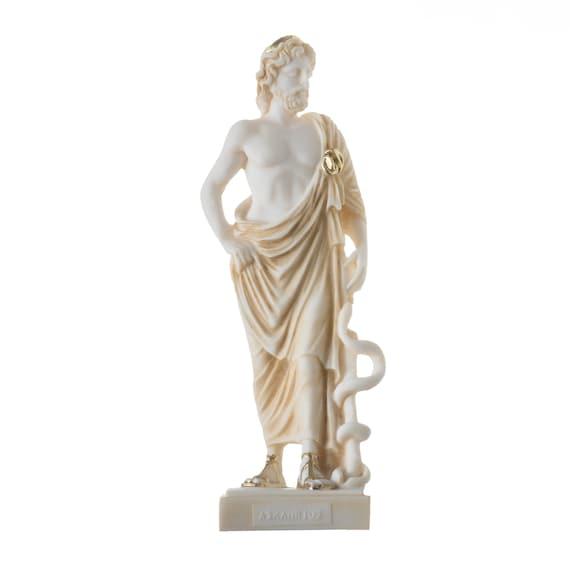 Asclepius Greek Roman God Statue Bronze Handmade Sculpture 23cm