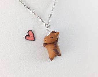 Charm Necklace // Horse Necklace // Horse Lover Gift // Equestrian Jewelry