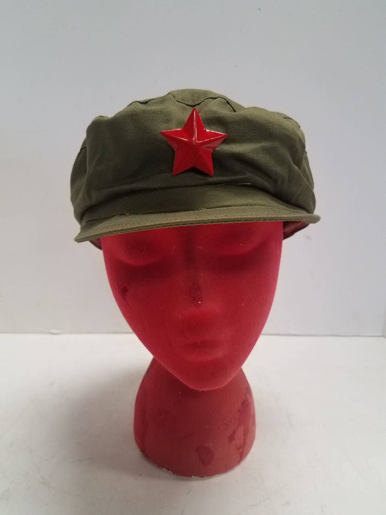 Vintage Chinese Red Army Military Cap 1960s Original Metal  e6df507964f5