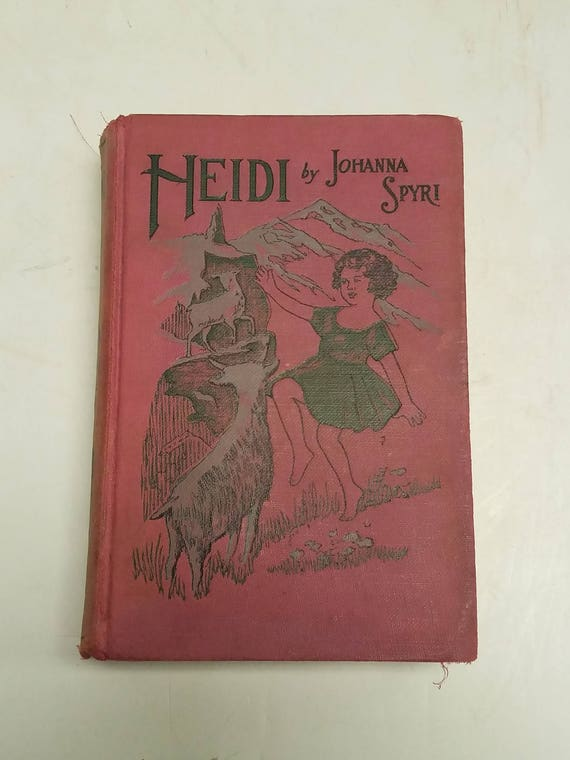 Vintage Antique Book 1920 S 1931 Heidi By Johanna Etsy