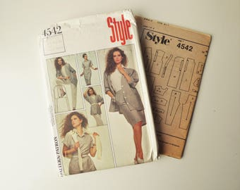 Style 4542 Vintage 80s Separates Pattern - Multi Size