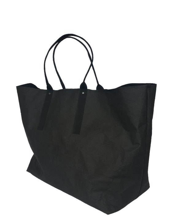 Xxl Shopper Lavable Livre Du Noir De Noir Fashion Noir Geant Shopper Ecofriendly Large Epaule Sac Cabas Grand Sac Fourre Tout