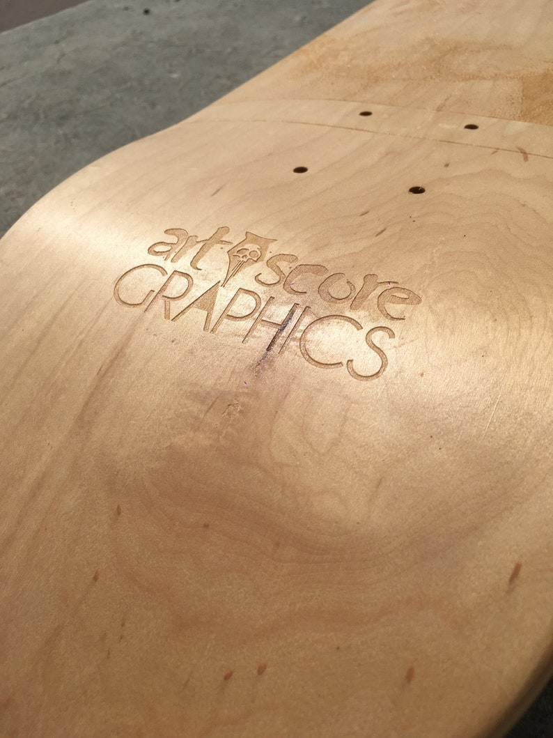 Wall art and home decor Skateboard art laser engraved in collaboration with artist Decoration