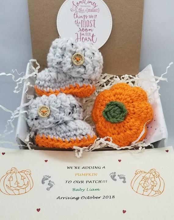 October November Fall baby announcement Grandparent baby