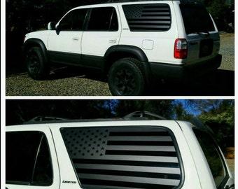 ec403604c25 3rd Gen American Flag Decals - Toyota 4runner Sticker Vinyl Banner Wrap Gen  3 USA Custom Yota Accessories Offroad United States Texas