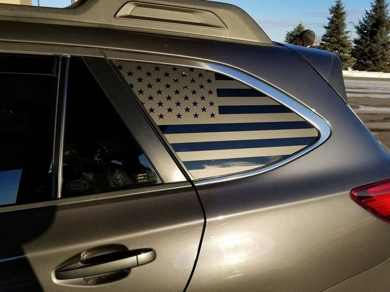 Subaru Outback American Flag Decals 09 Present Stickers Etsy