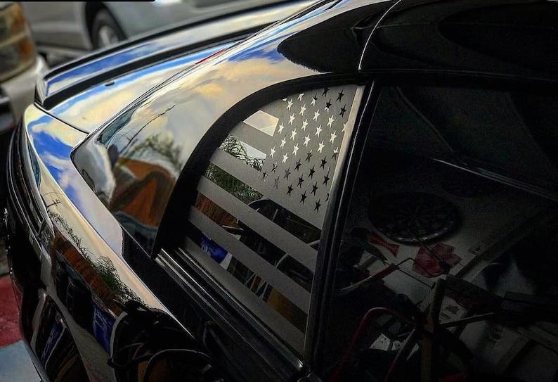 99-04 Ford Mustang American Flag Decals - Stickers Vinyl Usa Side Windows  Custom Accessories Cobra Gt 4th Gen SVT New Edge V8 V6