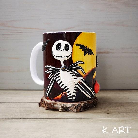 Jack Jack Skellington Pumpkin King The Nightmare Before Christmas Sally Zero Tim Burton Skull Mug Mug With Decor Handmade Mug Ceramic Mug