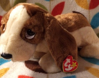 fde26b3a43c Tracker Beanie Baby Buddy Dog by Ty 1998 Super Soft Excellent Condition  with Hang and Tush Tags