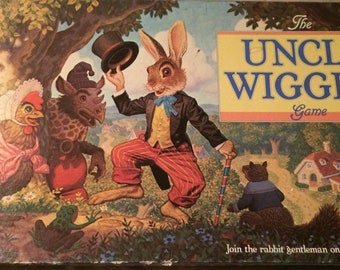 The Uncle Wiggily Game by Milton Bradley Vintage 1988 Board Game