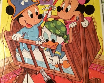 Disney Babies Frame Tray Puzzle Extra Thick 1984