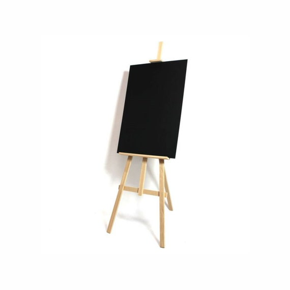 Tall Oakwood Easel. Blackboard stand. | Etsy