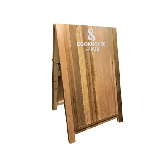 Wooden A1 Cedar Premium A Boards Pavement Chalkboard A Frame Sign Cedarab1