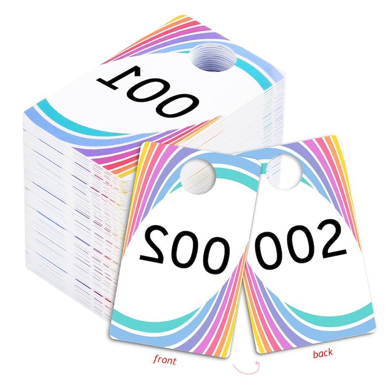 Live Sale Plastic Tags 001-999 Reg.& Reverse Mirror Image image 0