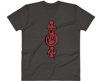 "The ""404"" Unisex V-Neck T-Shirt"