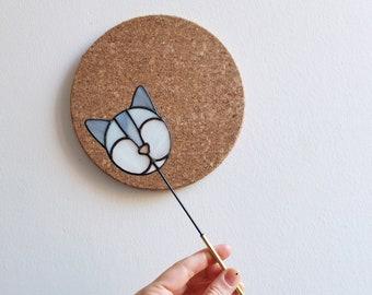 Stained Glass 'CAT' Suncatcher | Cat Suncatcher | 'Buddy' line | Gift for Cat Lovers | Renter Friendly