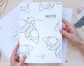 DIGITAL DOWNLOAD Stained Glass Pattern | MOTH .mini Suncatcher