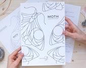 DIGITAL DOWNLOAD Stained Glass Pattern | MOTH Suncatcher