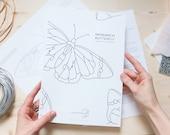 DIGITAL DOWNLOAD Stained Glass Pattern   MONARCH Butterfly Suncatcher
