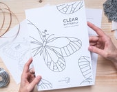 DIGITAL DOWNLOAD Stained Glass Pattern | CLEAR Butterfly Suncatcher