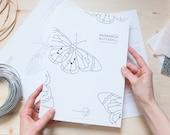 DIGITAL DOWNLOAD Stained Glass Pattern   MONARCH Butterfly .mini Suncatcher