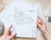 DIGITAL DOWNLOAD Stained Glass Pattern | MONARCH Butterfly Suncatcher