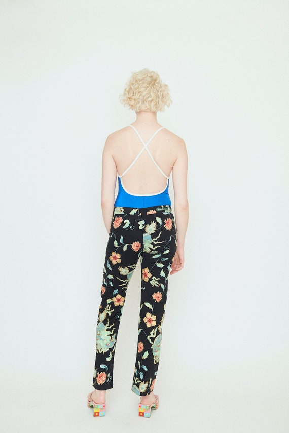 90s Chinese Dragon Print Hipster pants - image 3