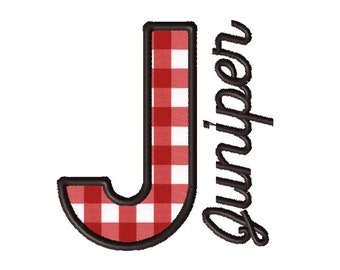 Made To Order - Letter J, CUSTOM Applique Embroidery File: 5x5