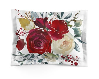 Red Roses Microfiber Pillow Sham