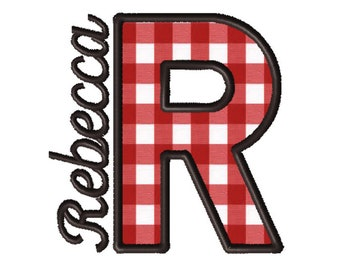 Made To Order - Letter R, CUSTOM Applique Embroidery File: 5x5