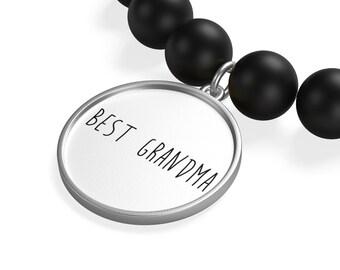Best Grandma Matte Onyx Bracelet